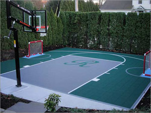 A court for a family Basket and Football