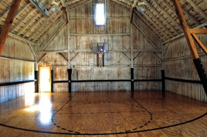 Basketball Court in Barn