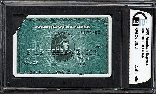 La tarjeta de crédito American Express de Michel Jordan