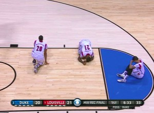 Louisville when Kevin Ware got injuried